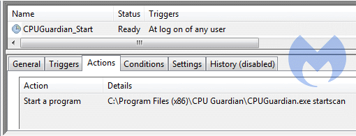 Removal instructions for CPU Guardian - Malware Removal Self