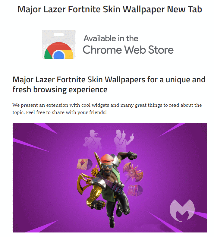 Removal Instructions For Major Lazer Fortnite Wallpapers