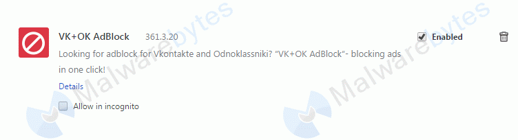 Removal instructions for VK OK Adblock - Malware Removal